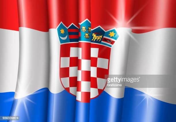 croatia illustration of croatian flag - croatian flag stock illustrations, clip art, cartoons, & icons