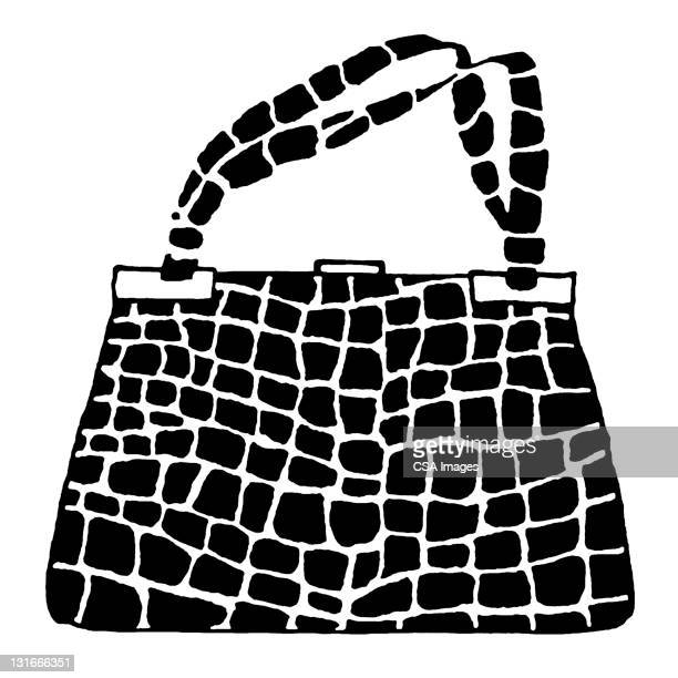 crocodile purse - handle stock illustrations, clip art, cartoons, & icons