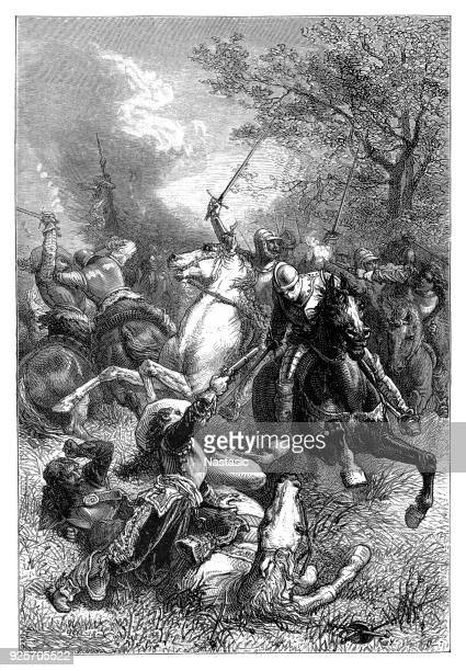 """cromwell's """"ironsides"""" in the fight with the king. - cavalier cavalry stock illustrations, clip art, cartoons, & icons"""