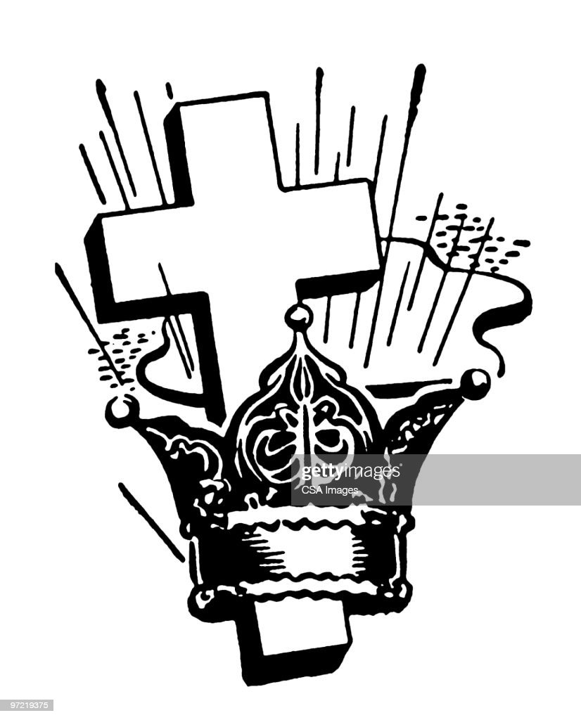 Cross And Crown Stock Illustration Getty Images