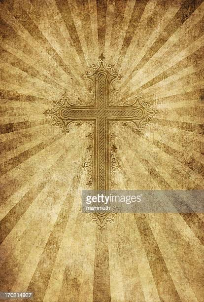 cross on grungy background