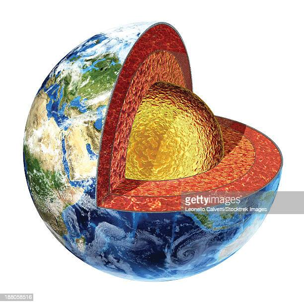 ilustrações, clipart, desenhos animados e ícones de cross section of planet earth showing the outer core, made by liquid iron, sulfur, nickel and oxygen. temperature 3200ãƒæ'ã¢â'¬å¡ãƒâ€šã'â¡ celsius. - surface level