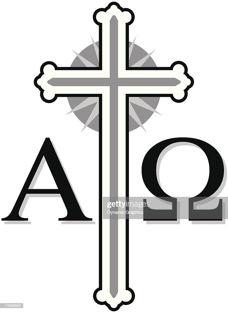 Cross With Alpha And Omega Symbols Vector Art Getty Images