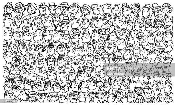 crowd - image stock illustrations