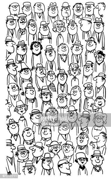 illustrations, cliparts, dessins animés et icônes de crowd - foule