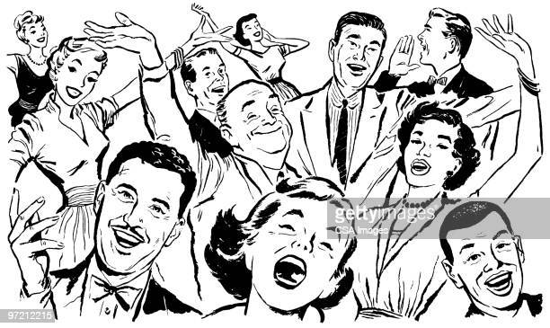 crowd - laughing stock illustrations, clip art, cartoons, & icons