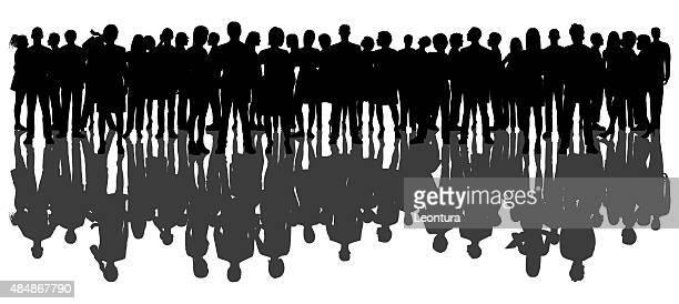 群衆、白で分離 - secretary general点のイラスト素材/クリップアート素材/マンガ素材/アイコン素材