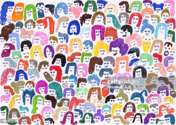 群衆の人々 の背景パターン