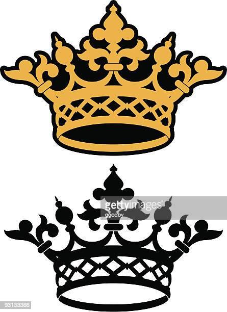 crown icon - corona zon stock illustrations