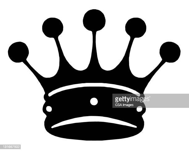 crown - queen royal person stock illustrations