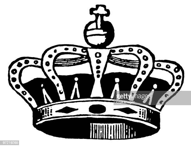 crown - ruler stock illustrations