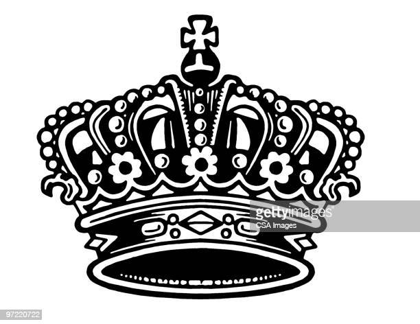 illustrazioni stock, clip art, cartoni animati e icone di tendenza di crown - corona reale