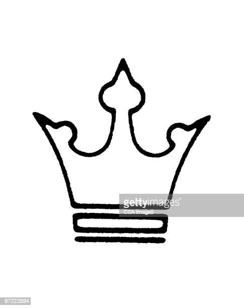 crown - queen royal person stock illustrations, clip art, cartoons, & icons