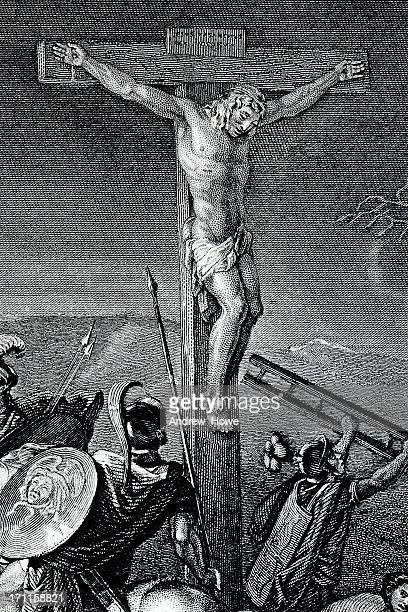 ilustraciones, imágenes clip art, dibujos animados e iconos de stock de crucifixion - corona de espinas