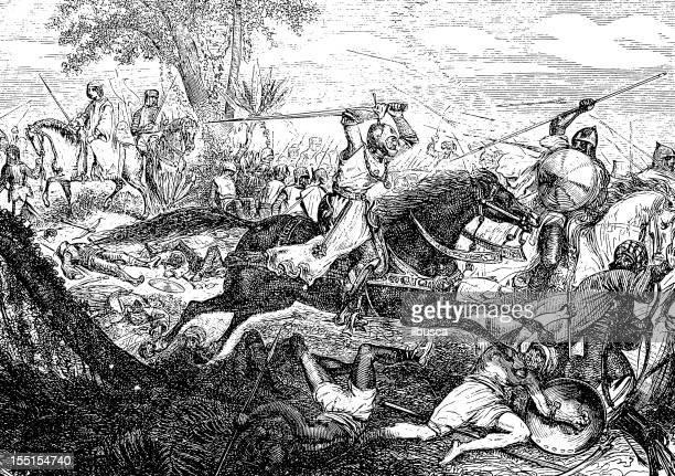 crusades - cavalier cavalry stock illustrations, clip art, cartoons, & icons