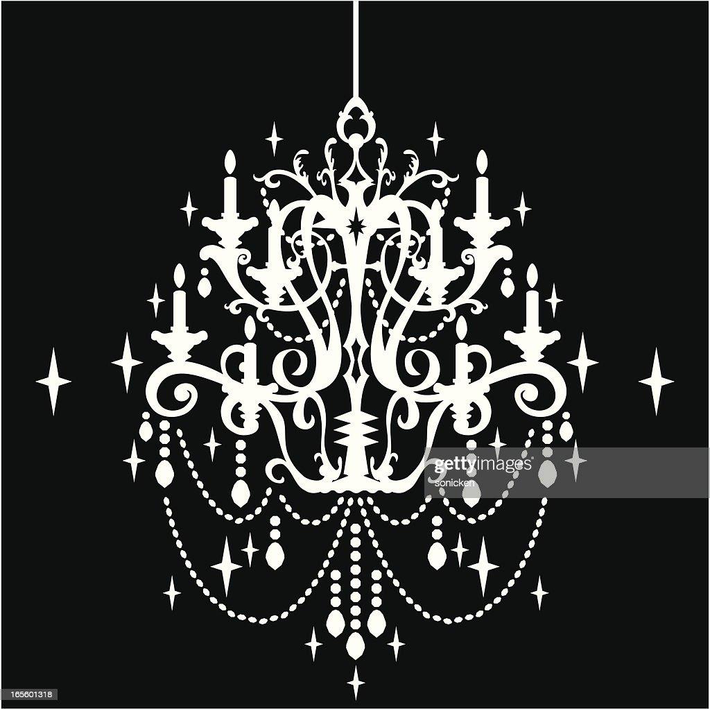Crystal chandelier silhouette vector art getty images crystal chandelier silhouette vector art aloadofball Gallery