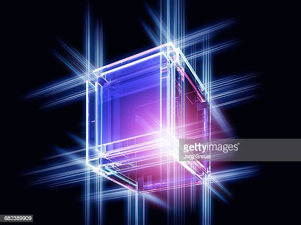 crystal cube - transparent stock illustrations