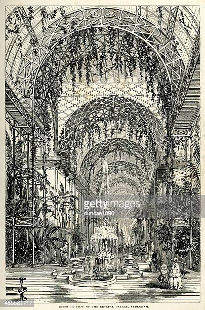 crystal palace, london - great exhibition stock illustrations, clip art, cartoons, & icons