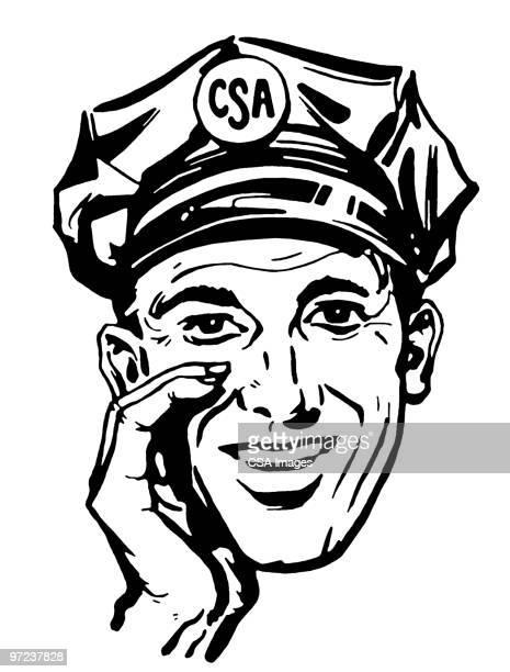 ilustraciones, imágenes clip art, dibujos animados e iconos de stock de csa driver - taxista