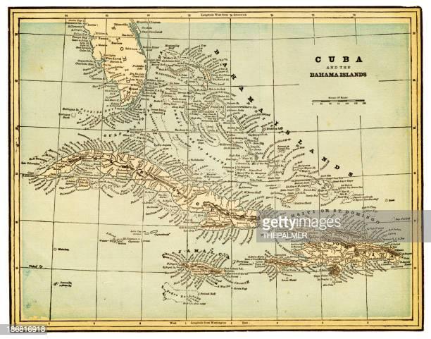 cuba and bahama island map - jamaica stock illustrations, clip art, cartoons, & icons