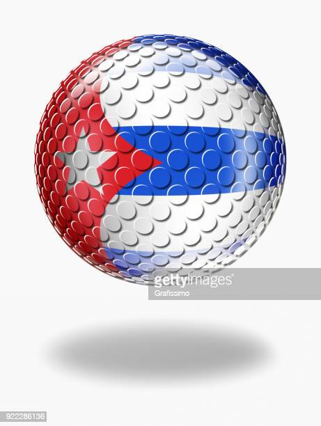 cuba sphere with cuban flag isolated on white - cuban culture stock illustrations, clip art, cartoons, & icons