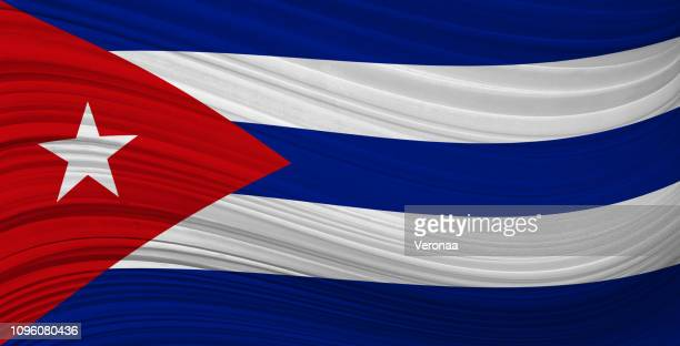 cuban waving flag - cuban culture stock illustrations, clip art, cartoons, & icons