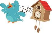 Cuckoo bluebird clock