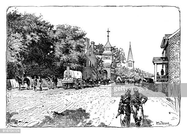culpeper virginia during the occupation of the union army - rifle stock illustrations, clip art, cartoons, & icons