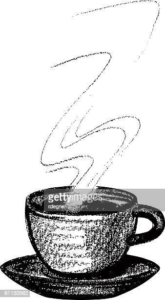 ilustraciones, imágenes clip art, dibujos animados e iconos de stock de taza de café o' - al vapor