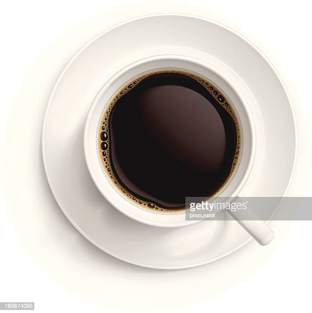 cup of black coffee - looking down stock illustrations, clip art, cartoons, & icons