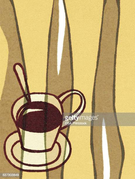 cup of coffee - caffeine stock illustrations, clip art, cartoons, & icons