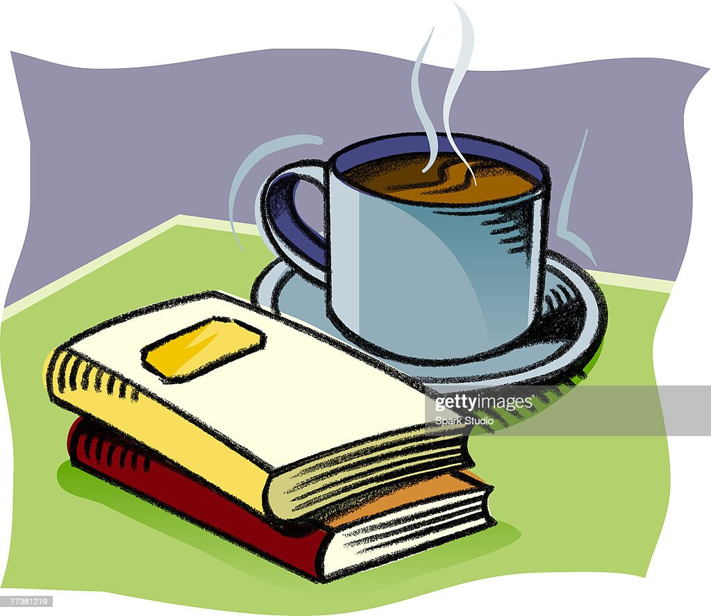 A cup of hot coffee : Illustration