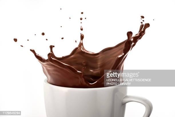 cup with dark chocolate splash, illustration - 生点のイラスト素材/クリップアート素材/マンガ素材/アイコン素材