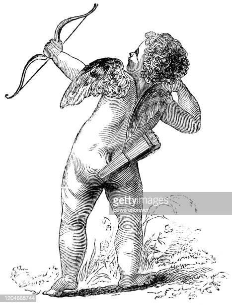 illustrations, cliparts, dessins animés et icônes de cupide - 19ème siècle - cupidon
