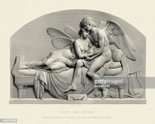 cupid und geist - erotikbilder stock-grafiken, -clipart, -cartoons und -symbole