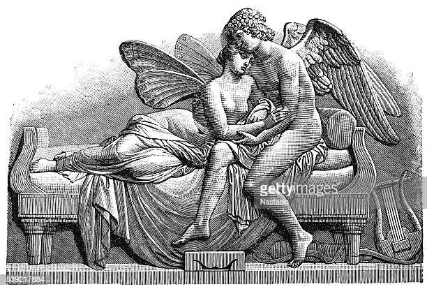 cupid and psyche - human sexual behavior stock illustrations, clip art, cartoons, & icons