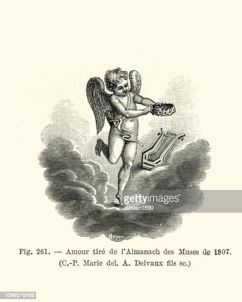 illustrations, cliparts, dessins animés et icônes de cupidon et l'amour des arts, 1807 - cupidon