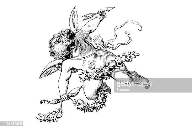 stockillustraties, clipart, cartoons en iconen met cupid - cupidon
