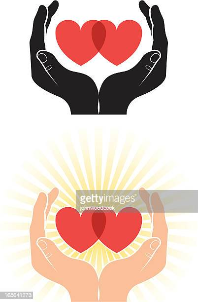 Cupped hearts