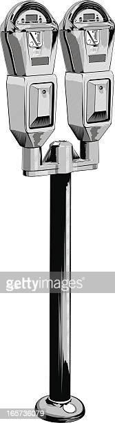 curbside parking meter - parking meter stock illustrations