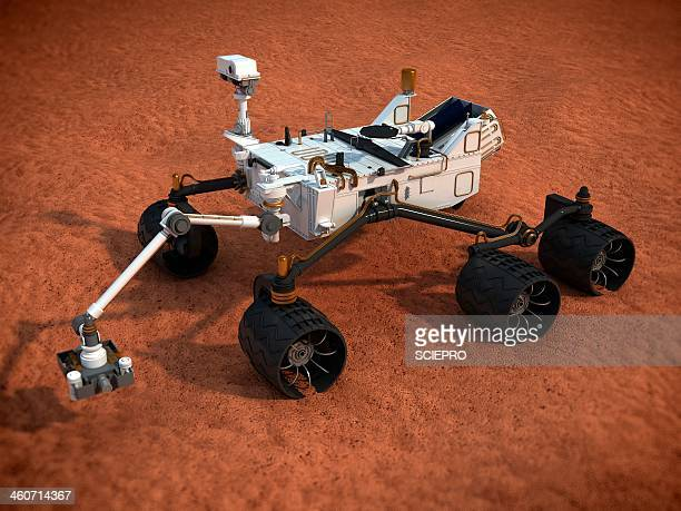 Curiosity Mars rover, artwork