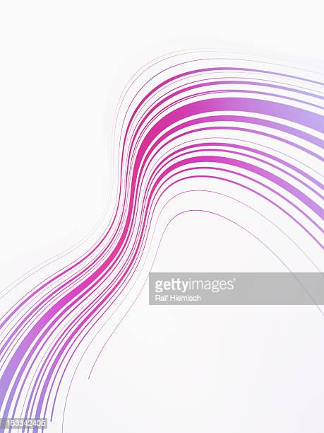 curved lines against a white background - purple stock illustrations