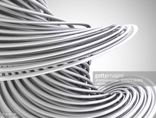 curved lines - abstract stock illustrations