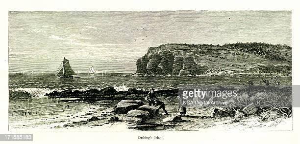 Cushing's Island, Maine | Historic American Illustrations