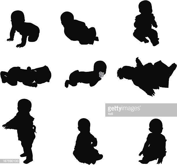 ilustraciones, imágenes clip art, dibujos animados e iconos de stock de linda bebés - obesidad infantil
