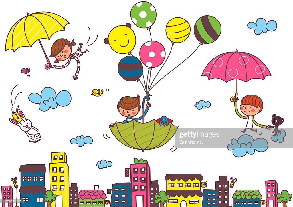 Cute Child : Stock Illustration