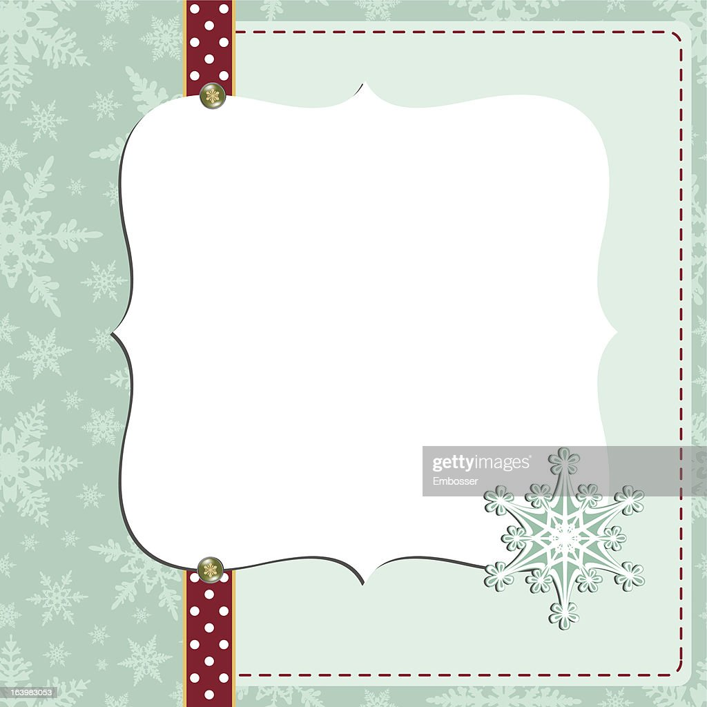 cute christmas new year postcard template vector art