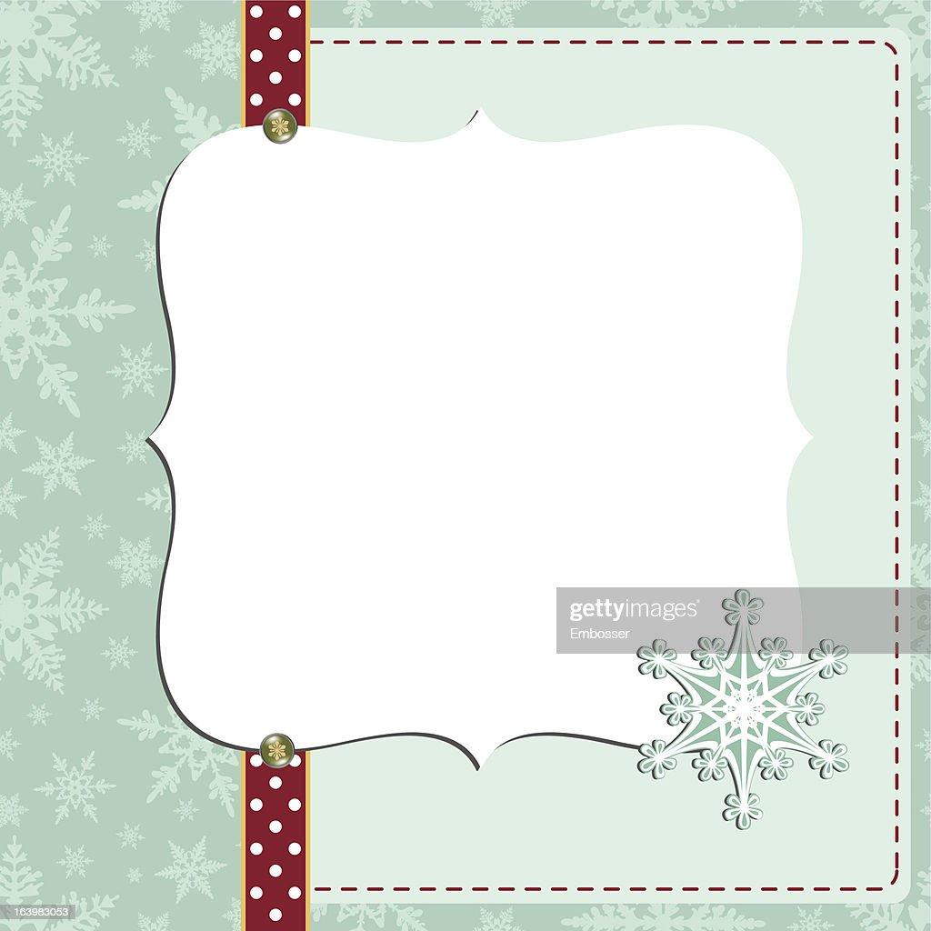 cute christmas new year postcard template vector art