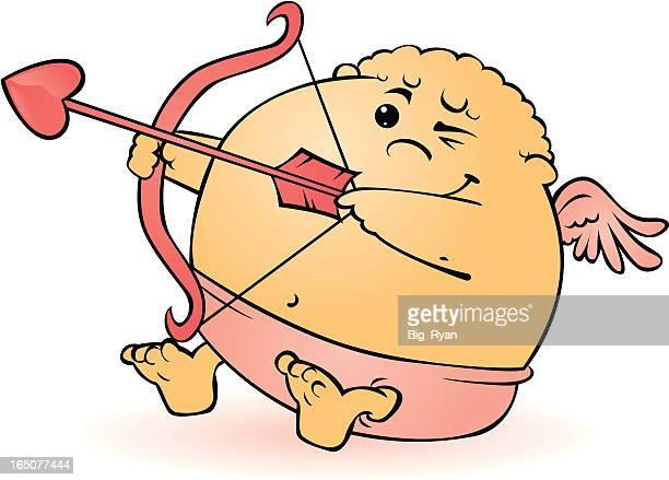 ilustraciones, imágenes clip art, dibujos animados e iconos de stock de linda cupido - obesidad infantil