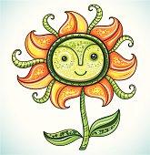 Cute friendly Eco flower